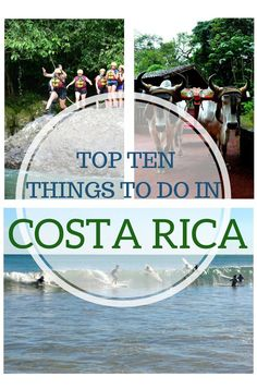 Check Out These Top Then Things To Do When In Costa Rica | Travel Central America | San Jose | La Paz Waterfall Gardens | Zip lining | Beautiful beaches | Study Spanish | Volunteer with turtles | White water rafting | Backpacking Costa Rica | Samara | Ricon De La Vieja | La Fortuna | Monteverde | Best weather to visit costa rica | Backpackers Wanderlust | http://www.backpackerswanderlust.com/top-to-do-costa-rica/
