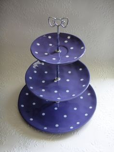 Tea cup saucer, Small plate and a large plate made into a cupcake stand