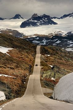 Auf dem Sognefjell ( lovely bit of road for a rollercoaster like drive )