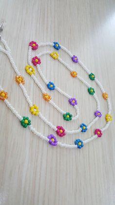 Seed Bead Bracelets, Seed Bead Jewelry, Bead Jewellery, Seed Beads, Beaded Jewelry, Beaded Necklace, Pulseras Kandi, Seed Bead Flowers, Beaded Bracelet Patterns