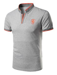 Men's Daily Sports Active Slim Polo - Solid Colored Stand Red / Short Sleeve / Summer 2020 - E£ Mens Polo T Shirts, Mens Tees, Men's Polos, Shirt Style, Casual Shirts, Shirt Designs, Mens Fashion, Style Fashion, Formal Casual