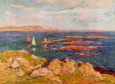 By the Sea painting, aHenri Moret