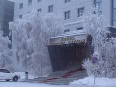yakutsk (coldest city on earth) enveloped in ice fog