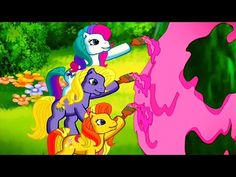 My Little Pony - Positively Pink Pinkie Pie Party, New Dance Moves, Spring Breakdown, Rainbow Dash Party, Old My Little Pony, Ribbon In The Sky, Girls Season 2, Hasbro Studios, Rainbow Bubbles