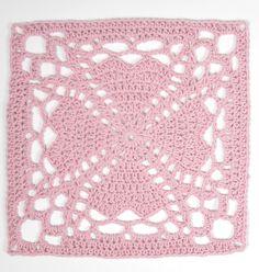 Järboponchon: Del 1 - Järbo Garn AB Crochet Motif Patterns, Crochet Squares, Crochet Granny, Crochet Doilies, Crochet Flowers, Granny Squares, Chrochet, Needlework, Knitting