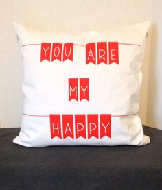 """You Are My Happy"" Pillow from @drawstringhome - it's perfection in a nursery!"
