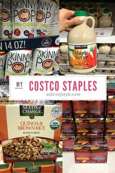 I've been asked a bunch about what my favorite items from Costco are! Click for pictures of all my staples, along with the one thing I stopped buying from Costco! Shopping ideas | Costco shopping list | Best Costco items | I love Costco | Buy in bulk | Bulk deals | Costco deals | Costco hacks | Costco meals