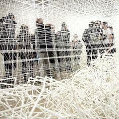 JIX installation by Patrick MartinezOctober-November 2012 Photo Credit: Caroline Rys. Straw Sculpture, Line Sculpture, Sculptures, Sound Art, Designer Toys, Art Studies, Constellations, Illusions, Gallery