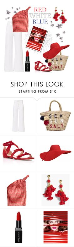 """""""Red, White & Blue"""" by kim-mcculley ❤ liked on Polyvore featuring A.L.C., Sundry, Alexandre Birman, Rosie Assoulin, J.Crew, Smashbox, L'Oréal Paris and redwhiteandblue"""