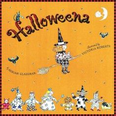 """Halloweena by Miriam Glassman - the not-so-spooky tale of a baby who is adopted by a witch on Halloween night. I loved the references to """"famous"""" fairytale witches and kids love the whimsical illustrations and enterprising title character. Halloween Stories, Halloween Night, California Real Estate License, Library Services, Library Card, Heart For Kids, Autumn Leaves, Fairy Tales, Whimsical"""