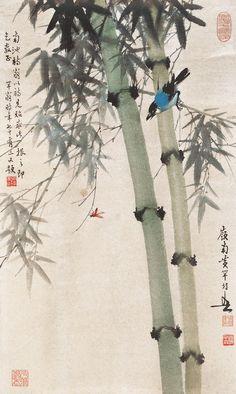 #MasterHuangHuanWu #ChineseInkPainting #OrientalPaintingBamboo Japanese Painting, Chinese Painting, Chinese Art, Sumi E Painting, Watercolor Paintings, Bamboo Art, Art Asiatique, Style Japonais, Chinese Landscape
