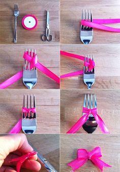 Astuce pour faire un petit nœud.