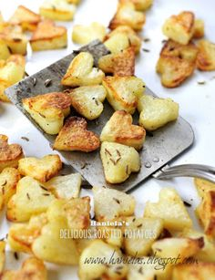 These are going to be the perfect little-heart-shaped potatoes to go with poached eggs for V-day breakfast next week!