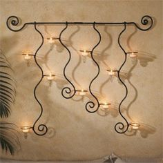 Candlestick holders, Wall decor,