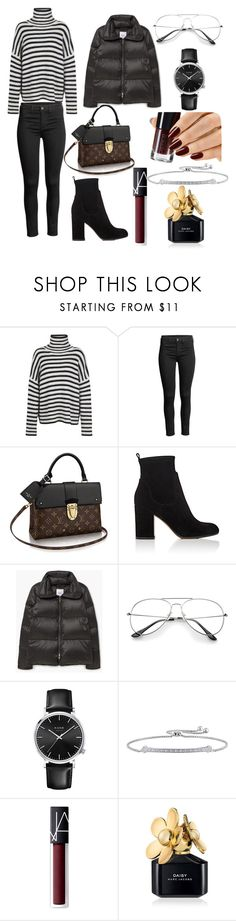 """""""Untitled #101"""" by prettyyyy ❤ liked on Polyvore featuring Samsøe & Samsøe, Gianvito Rossi, MANGO, NARS Cosmetics and Marc Jacobs"""