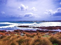 Stunning photograph capturing Hawley Beach, Tasmania via http://www.redbubble.com/people/cschurch/