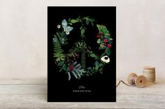Floral Peace Holiday Cards by Baumbirdy | Minted