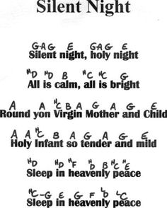 Silent night flute notes,