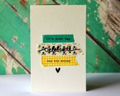 celebrate washi tape card