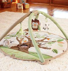 darling owl themed activity mat
