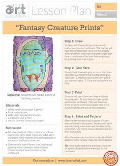 Kandinsky Art Lesson Plan Teaching With Art Pinterest Lesson Plan Format Lesson Plans And