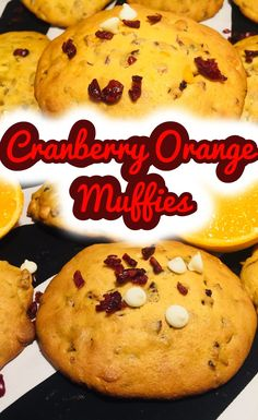 Cranberry Orange Muffies (muffin tops)