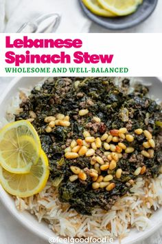 Try this authentic Lebanese style Spinach stew made with simple inexpensive ingredients. It's wholesome, well-balanced and perfect to feed a large family! Lebanese Recipes | Ramadan Recipes | Arabic Food | Middle Eastern Cooking Garlic Butter Steak, Ramadan Recipes, Lebanese Recipes, Arabic Food, Mediterranean Recipes, Food Dishes, Food Inspiration, Stew, Spinach