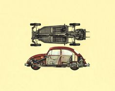VW Cutaway Cutaway, Volkswagen, Bike, Car, Tattoo Ideas, Bicycle, Automobile, Vehicles, Cars