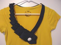 *As seen on CRAFT MAGAZINE *                {Ruffle Necktie Tee Tutorial}     Here's what you'll need...    tee {mine was Forever 21- $1....