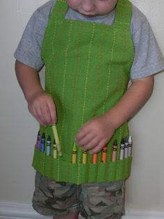 ~~pinned from site directly~~ . . .  Obsessively Stitching: Kids' Art Apron from Dishtowel -- TUTORIAL