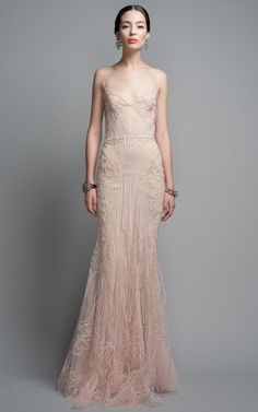 Blush Evening Gown by Zac Posen for Preorder on Moda Operandi