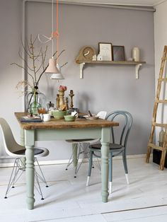 Sweet Home, Dining Nook, Dining Table, Muebles Home, Long House, Interior Decorating, Interior Design, Dining Room Inspiration, Furniture Makeover
