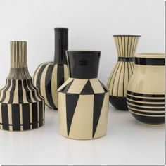 "ceramics by Hedwig Bollhagen, ""the most important German ceramicist of the 20th Century"". She remained true to her vision throughout Nazi occupation, State control of her factory, and finally at the age of 85, the reprivatization of her factory.  She continued to work until her death in 2001 at the age of 93."