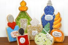 The magic of great cookies: Thinking outside of the box potion bottle cookies