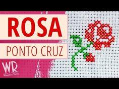 Mini ROSA em ponto cruz com avesso perfeito (Tutorial completo) - YouTube