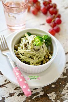 Broccoli Pesto Recipe and Weelicious Cookbook Giveaway on FamilyFreshCooking.com © MarlaMeridith.com