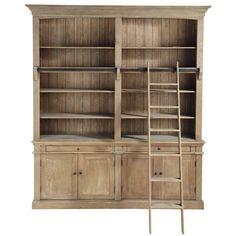 Bibliothèque échelle bois recyclé ARISTOTE