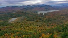 Check out these four scenic fall hikes in the Whiteface Region: Silver Lake Mountain, Cobble Lookout, Jay Mountain, and Catamount Mountain. Fork In The Road, Lake Mountain, Silver Lake, Stunning View, Paths, Hiking, Vacation, Fall, Travel