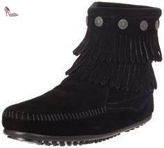 MINNETONKA - Double Fringe Side Zip Boot - Noir, Marron (Schwarz), 40 EU - Chaussures minnetonka (*Partner-Link)