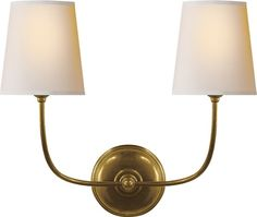 Visual Comfort Vendome Double Sconce, Wall Mount