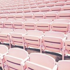 bubblegum pink bleachers stadium seating