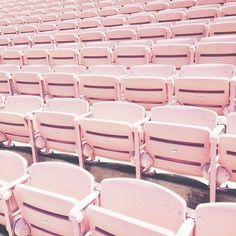 bubblegum pink bleachers stadium seating