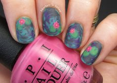 These are gorgeous!!!!!  The Digit-al Dozen DOES Floral, Day 1: Water Lily Nail Art!