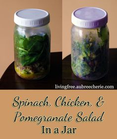 Living Free | Chicken Pomegranate Salad in a Jar (GF, DF, & SF)