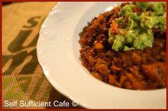 Adzuki bean and beluga lentil chilli