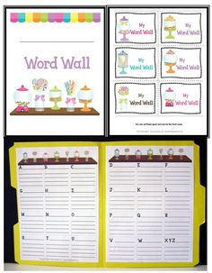 Personal WORD WALLS are a wonderful tool for developing writers. Encourage conventional spelling while saving your sanity! Available is 8 different themes!