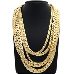Mens Miami Cuban link Chain to 8 9 20 22 24 26 30 Gold Plated - Brass Chain Necklace - Ideas of Brass Chain Necklace Gold Plated Bracelets, Gold Plated Necklace, Mens Chain Designs, Gold Chain Design, Gold Chains For Men, Mens Chains, Men Necklace, Necklace Ideas, Pendant Design