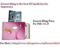 Get Pleasant Sex Drive After Eating Forzest Every man wants to achieve the longer size of erection and it can be achieved after eating forzest medicine. It is an oral treatment that acts to provide solution for curing erectile dysfunction problems. For More visit : xldrugstoreonline...
