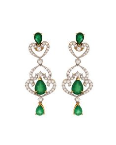Gorgeous 925 Sterling Silver,Green Onyx Earrings   Rs. 2,080   http://voylla.com
