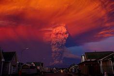 De uitbarsting van de vulkaan Calbuco in Chili.